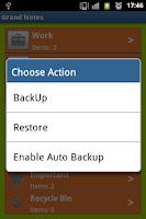Screenshot of Grand Notes FREE