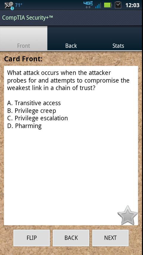 Security+ Flash Trainer- screenshot