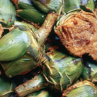 Artichoke Halves Stuffed with Beef