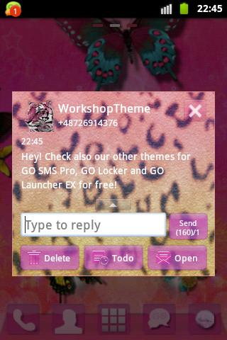 GO SMS Theme Panther - screenshot