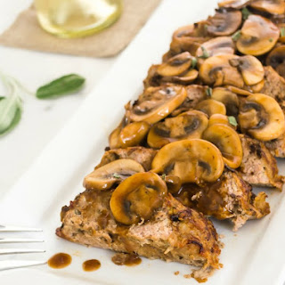 Wild Mushroom Sage Turkey Meatloaf