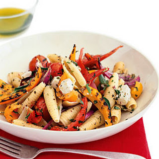 Pasta with Grilled Vegetables and Feta.