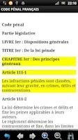 Screenshot of Code Pénal Français GRATUIT