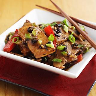 Home-Style Tofu with Shiitake Mushrooms.