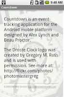 Screenshot of Countdown