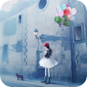 Day Rainy Girl Live Wallpaper icon