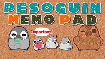 Screenshot of Pesoguin Memo Pad Penguin note