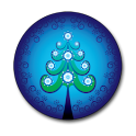Xmas Blue Tree Clock icon