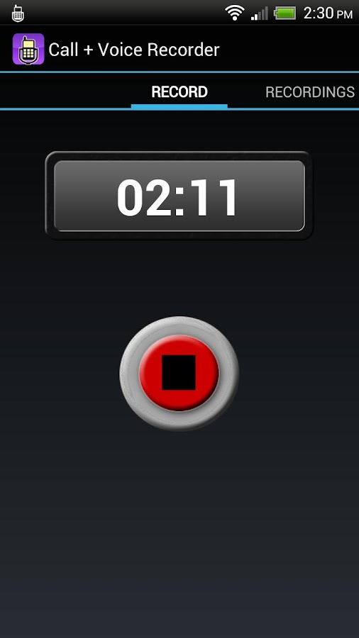 Call + Voice Recorder Pro - screenshot