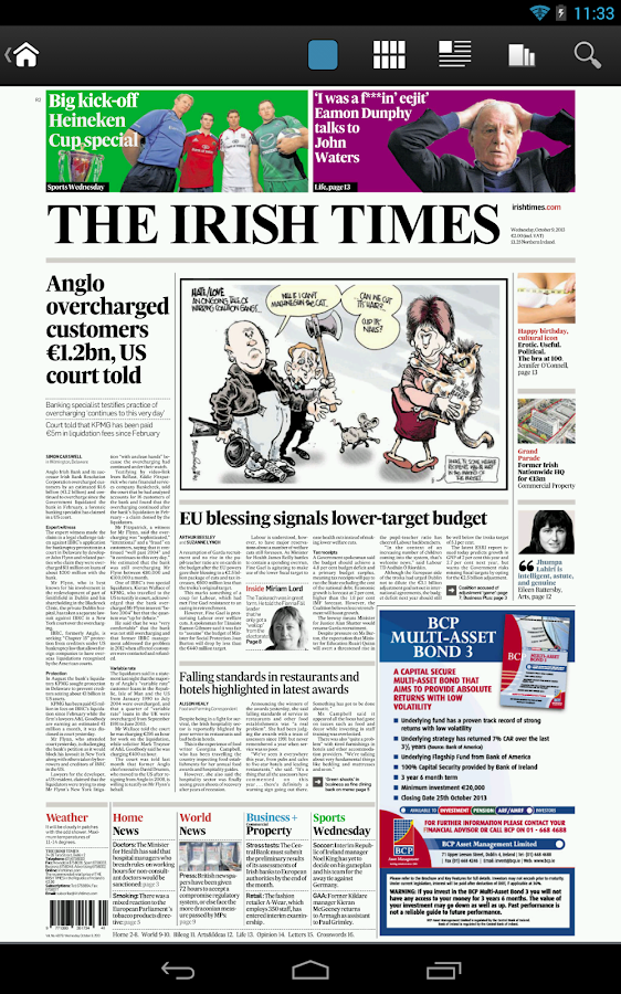 Irish Times Digital Edition - screenshot