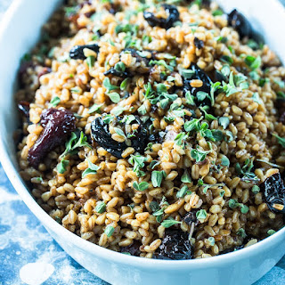 Farro Salad with Prunes and Shallots