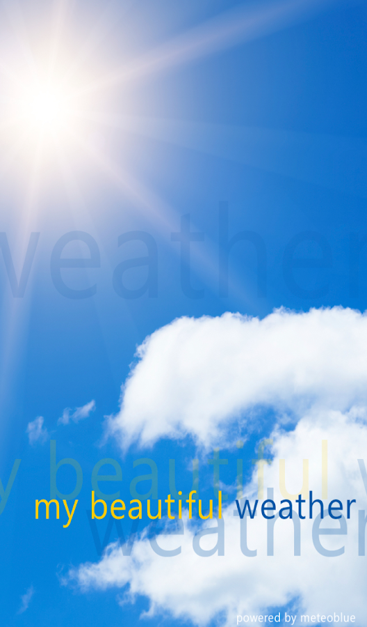 MyBeautifulWeather - screenshot
