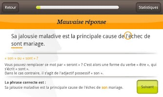 Screenshot of Orthographe Projet Voltaire