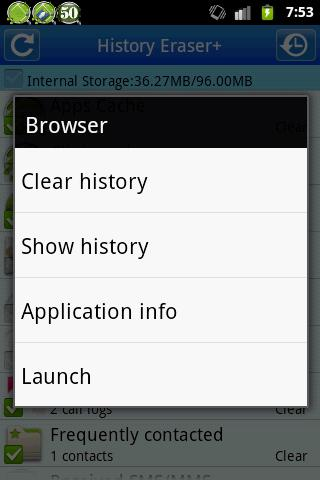 History Eraser +- screenshot