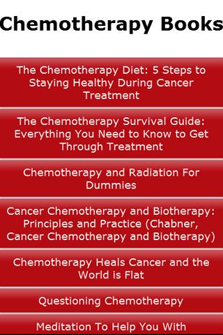 Chemotherapy Books