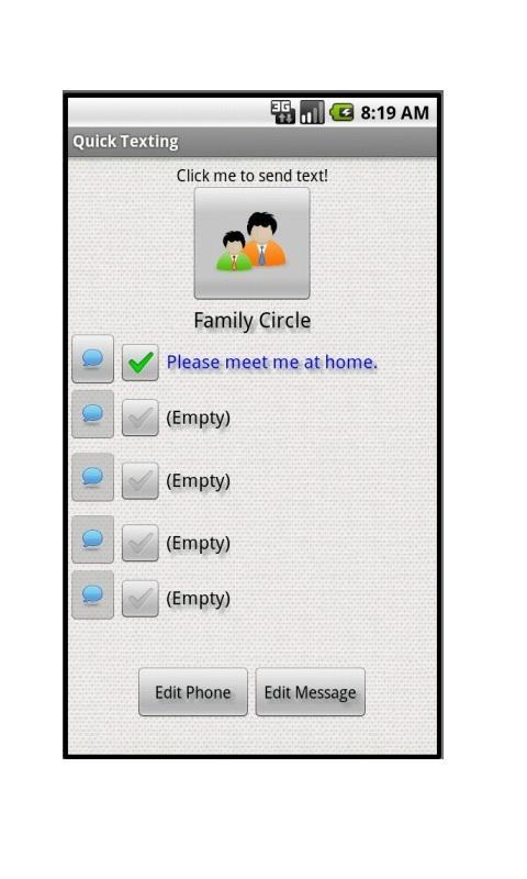 Quick Texting- screenshot