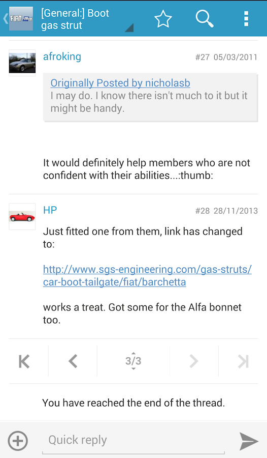 FIAT Forum - screenshot