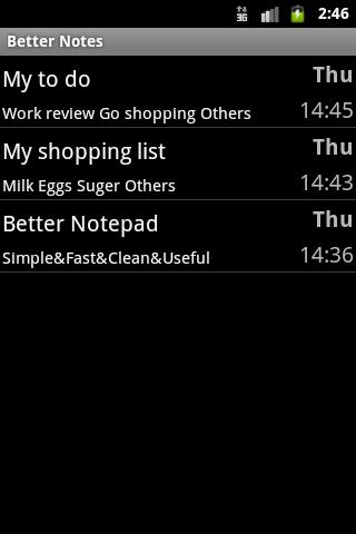 Better Notepad- screenshot