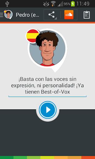 Voz Pedro voice spanish