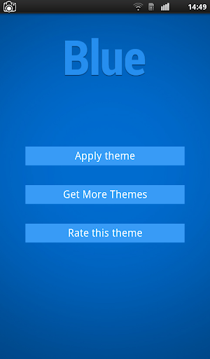 Flat Blue Keyboard Theme