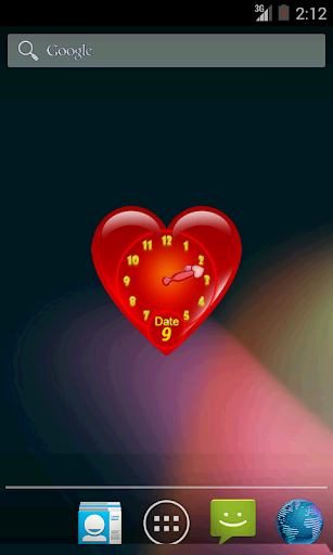 Valentine Clock Widget