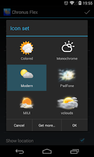 Chronus: Modern Weather Icons - screenshot thumbnail