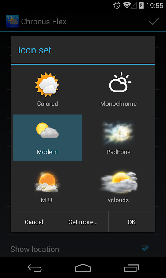 Chronus: Modern Weather Icons - screenshot