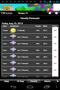Tampa Bay weather from TBO - screenshot thumbnail