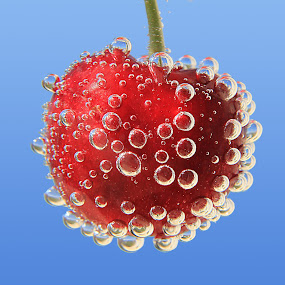 Cherry by Besnik Hamiti - Food & Drink Fruits & Vegetables ( cherry, sparkling water, kosovo, bubbles )