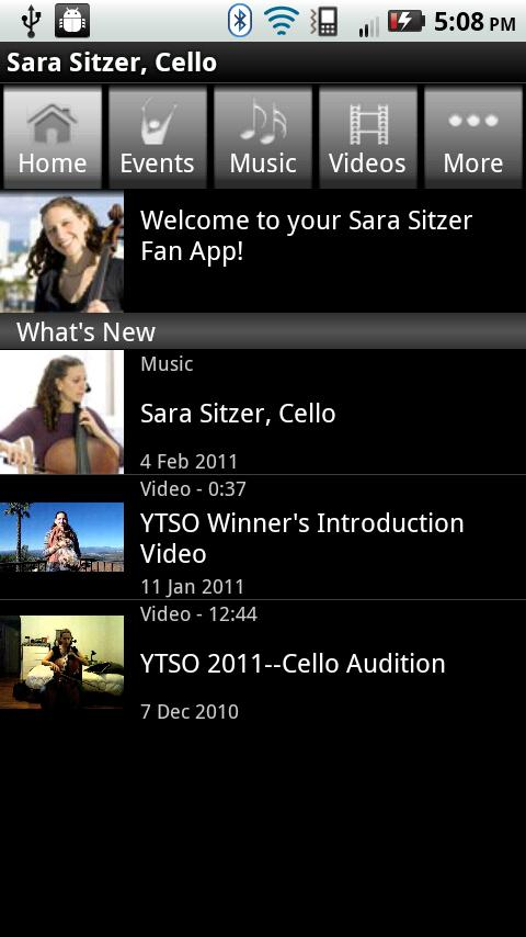 Sara Sitzer, Cello - screenshot
