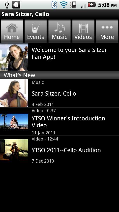 Sara Sitzer, Cello - screenshot