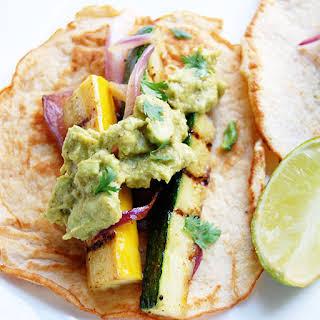 Paleo Vegetarian Tacos with Zucchini, Squash & Eggplant.