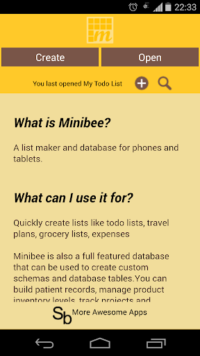 MiniBee Database List Maker