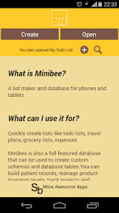 MiniBee Database & List Maker- screenshot thumbnail