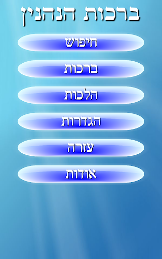 ברכות הנהנין Birkot Hanehenin