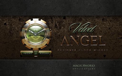 Velvet Angel Clock Widget