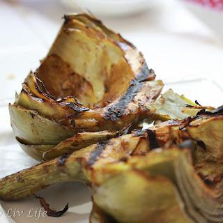 Grilled Artichokes with Balmamic Vinaigrette