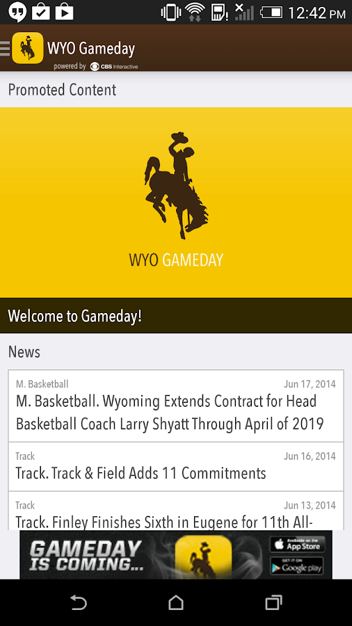 WYO Gameday LIVE - screenshot