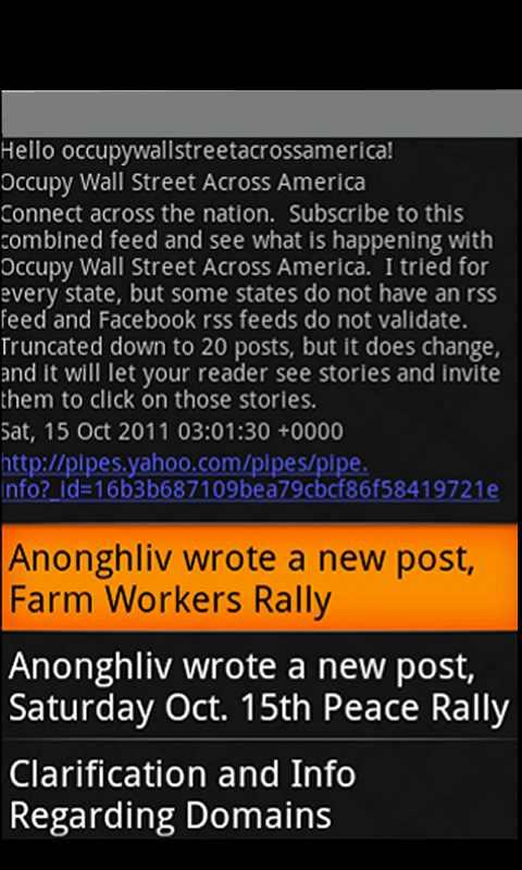 Occupy Wall Street America- screenshot
