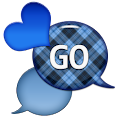 GO SMS - Dazzling Hearts 3 icon