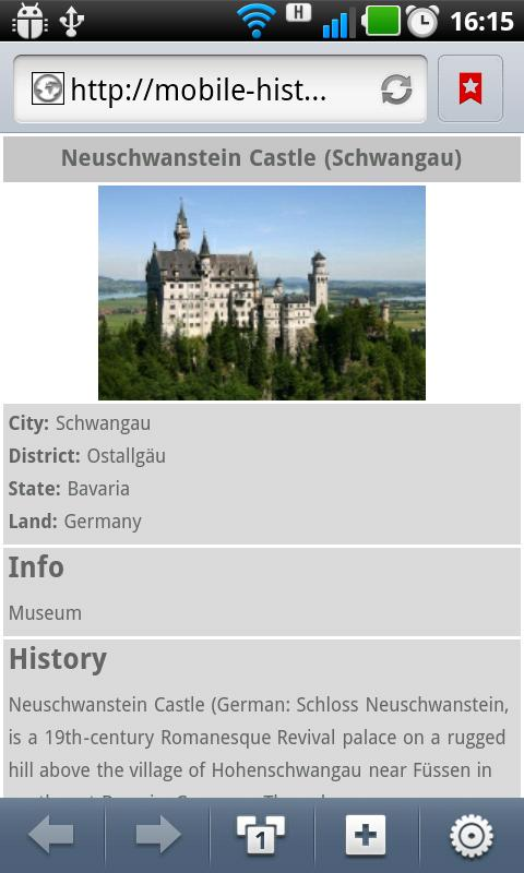 Mobile History Free - screenshot