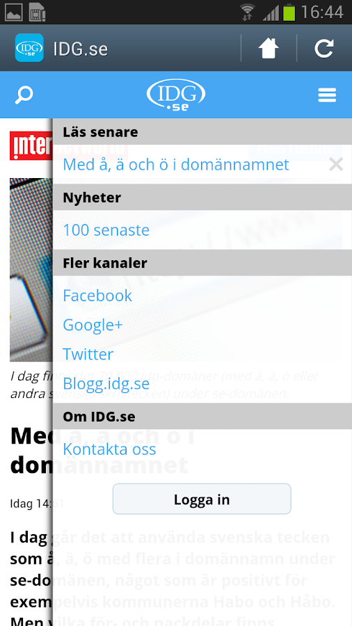 IDG.se - screenshot