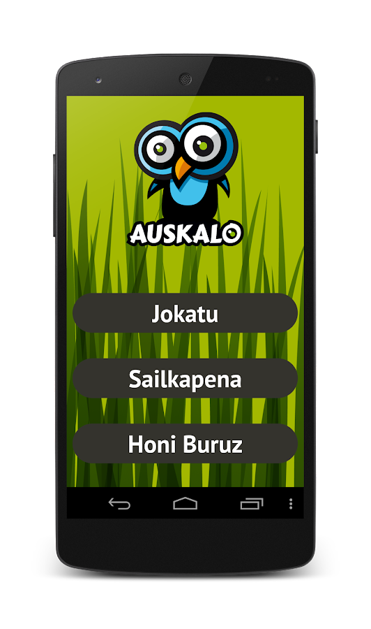 Auskalo- screenshot