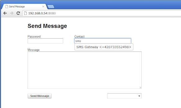 Send Message + SMS Server