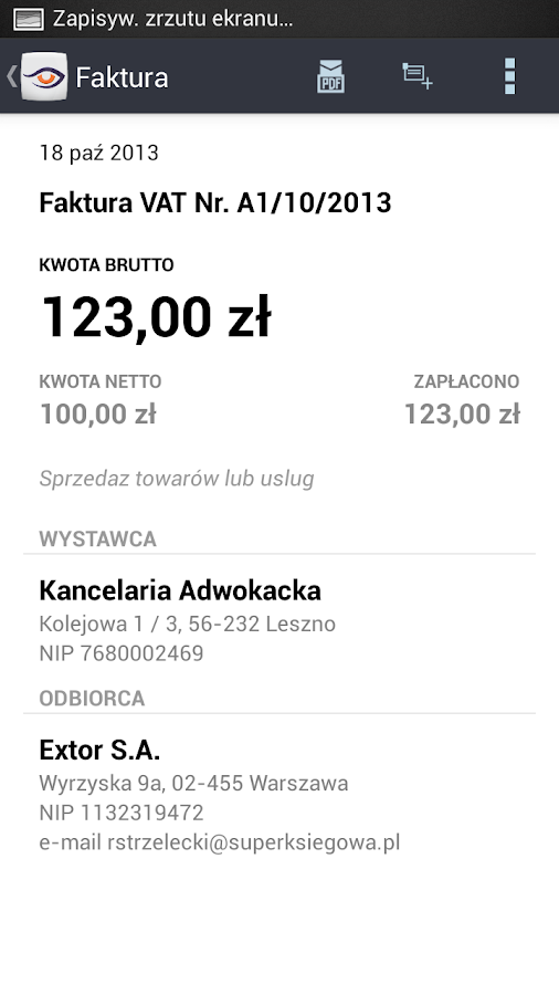 SuperKsięgowa- screenshot