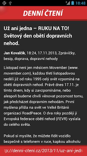 【免費新聞App】Denní čtení - magazín-APP點子