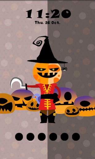 Halloween Pumpkin Locker Theme