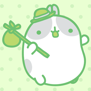 download Molang Clover Green Atom theme apk