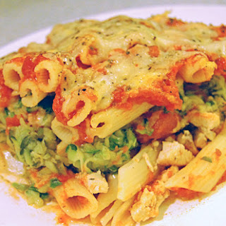 Chicken & Zucchini Baked Ziti Recipe