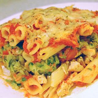 Chicken & Zucchini Baked Ziti.